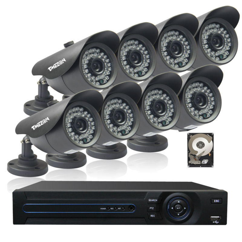 Здесь можно купить  Tmezon 8CH 960H HDMI DVR 8 pcs 900TVL Outdoor CCTV Security Bullet Camera IR Cut Distance 100ft System 1TB Hard Drive  Безопасность и защита
