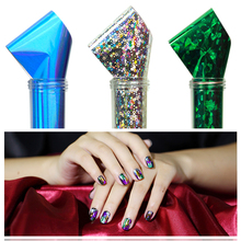 New Beauty 50 Random Lot Colorfull Nail Art Decorations Nails Foil Galaxy Nail Sticker Paper Shiny Decals pelicula de unha P4PM