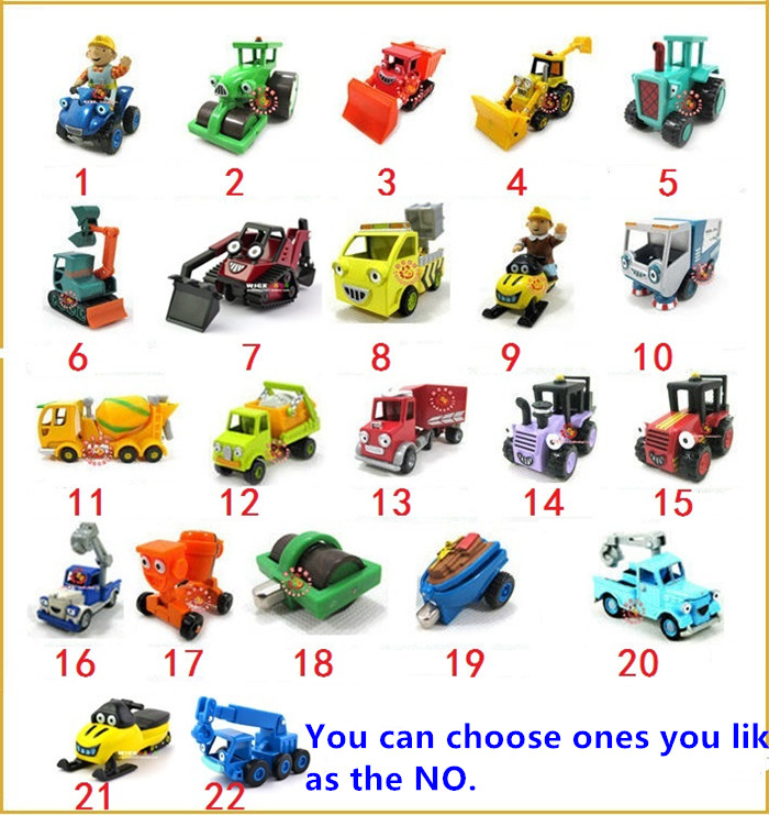 Bob The Builder Alloy cars Trucks toys,Metal cars Trucks metal Construction Vehicles Models collection kids gifts(Hong Kong)