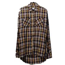 Hi-Street Mens Casual Plaid Shirts Long Sleeve Side Zipper Streetwear Tartan Shirt For Man Fashion Camisas Masculina LQ616