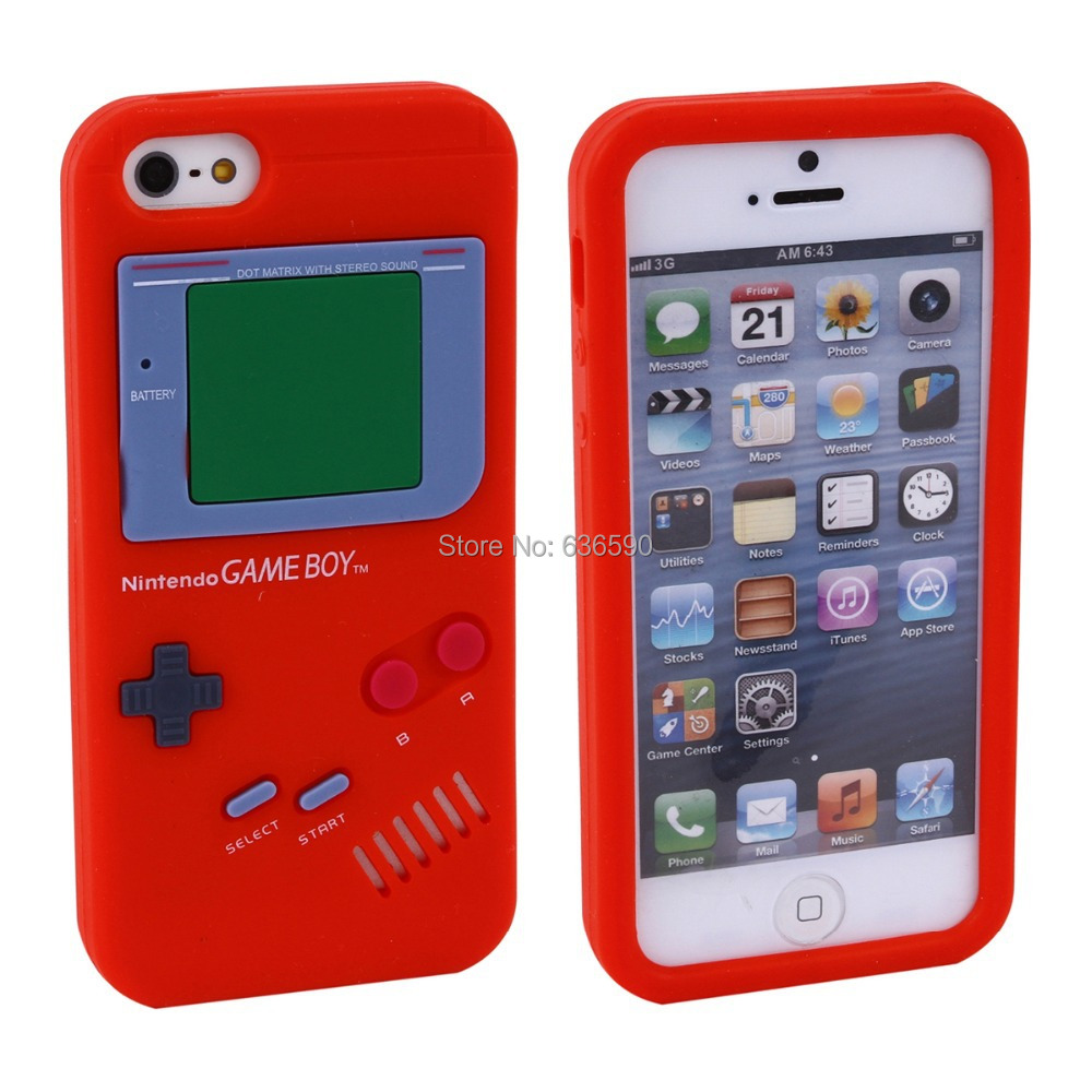 Mobile Phone Case iPhone 4 4S iPhone4 Cool Cute Game Gaming Protective Silicone Silicon Soft Feel Cover Cases 11 Colors - Tony Brooks's store