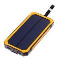 10000mAh Solar Power Bank dual USB 5V 2V 1A Powerbank with LED Light for outdoor activity