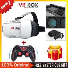 100% original Google cardboard VR BOX Version VR Virtual Reality Glasses + Bluetooth Wireless Mouse / Remote Control / Gamepad