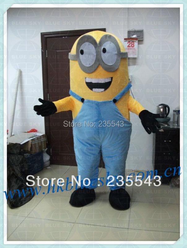 Minion Mascot Costume Adult Size Minion Cartoon Character Minion Mascotte Mascota Outfit Suit(China (Mainland))