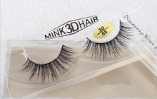 1Pair 100% Real Mink hair False crisscross Eyelashes Makeup Fake Eye Lashes Extension handmade 3D Eye Lashes Beauty Tools