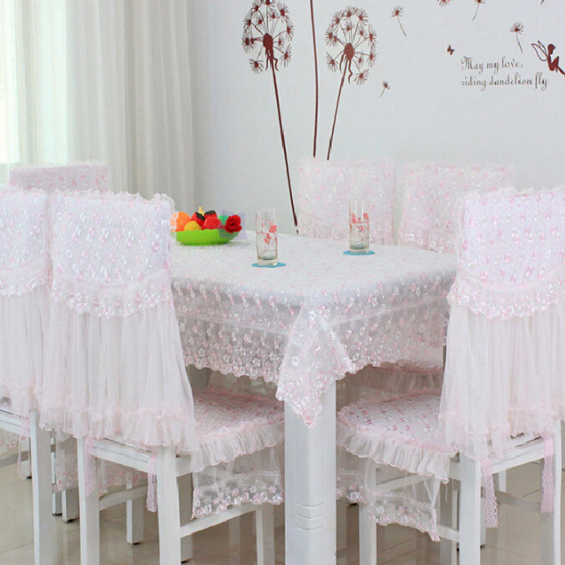 Lace Tablecloth For Weddings Embroidered Tablecloths Table Cloth And Chair Covers Manteles Para Mesa Pale Pink(China (Mainland))