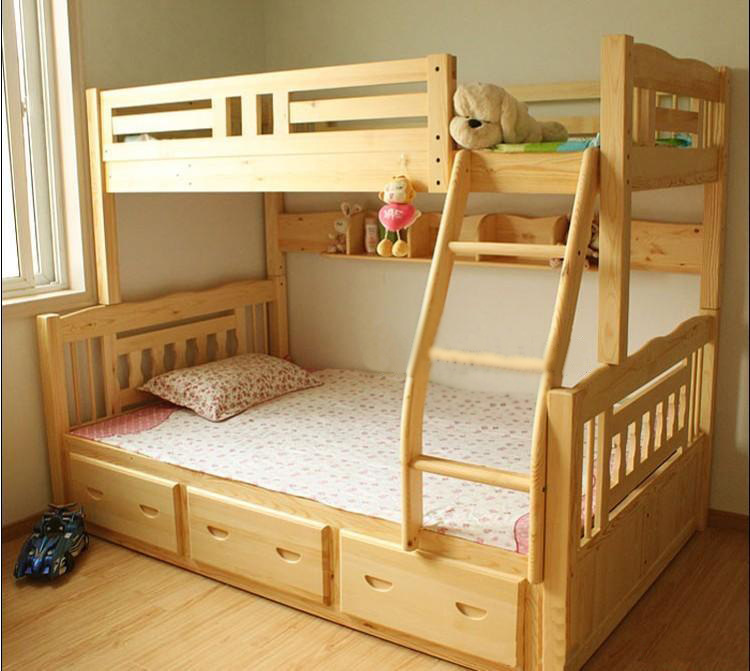 The cheapest wood bed children 39 s bunk beds bunk bed for The cheapest bed