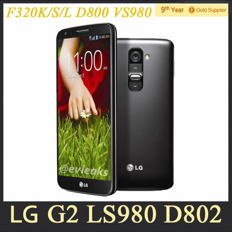 "Original Unlocked LG G2 F320 D802 D805 LS980 Mobile Phone Quad Core Android 4.2 13MP 5.2"" inch IPS 32GB ROM Refurbished Phone(Hong Kong)"
