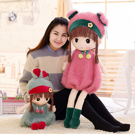45cm Hot Sell Fashion Girl Doll Soft Toy Lovely Figure Stuffed Plush Toy Girl Kids Childrens day Gift Super Quality<br><br>Aliexpress