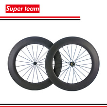 1 Pair of 88mm bicycle wheels 700c carbon clincher wheelset 3K matte(China (Mainland))