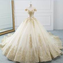 Новейшее платье Abito da Sposa, платье невесты с бусинами и аппликацией, великолепное бальное платье на свадьбу, платье Noiva Princesa(China)