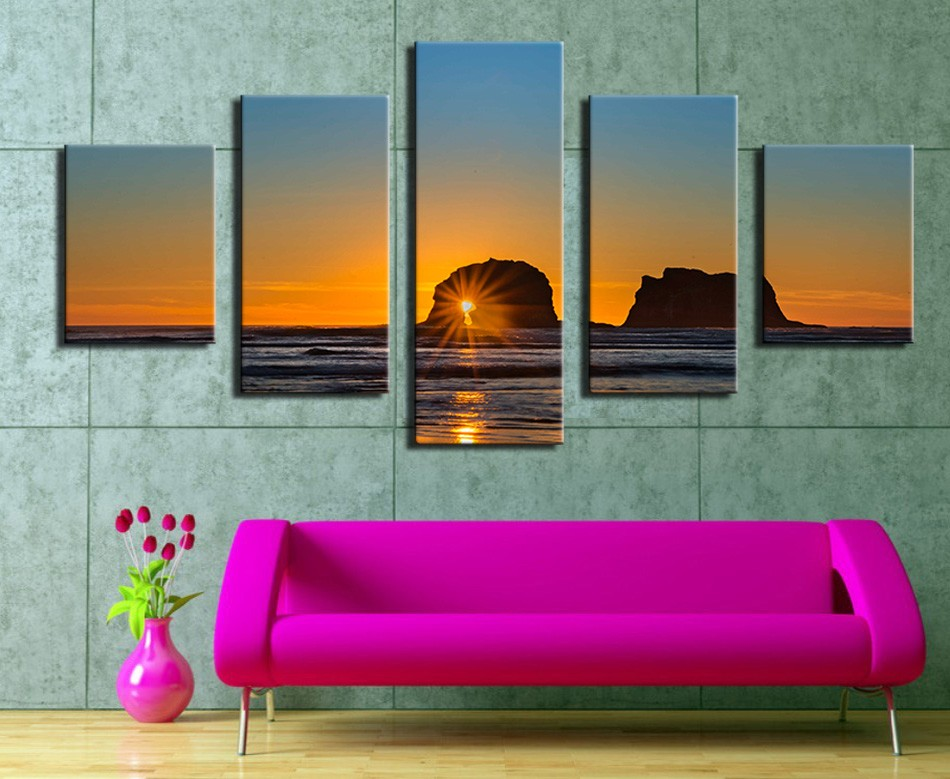 Schilderijen Woonkamer: Acrylverf schilderijen woonkamer kleur ...