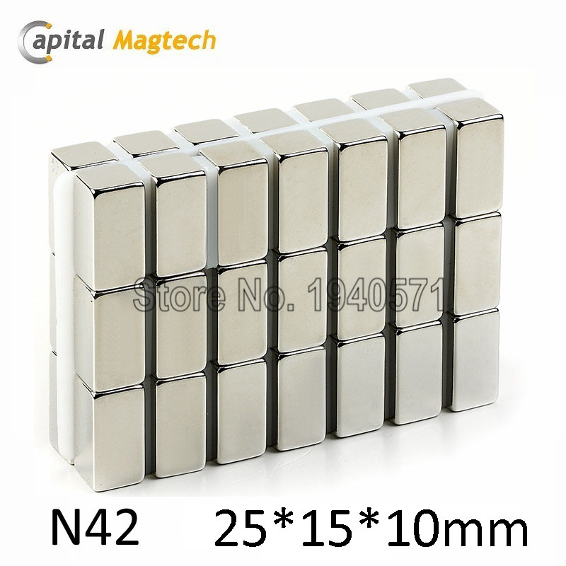 2pcs N42 Block magnets 1*1/2*1/2inch Strong Rare Earth Neodymium Magnet with free Shipping<br><br>Aliexpress