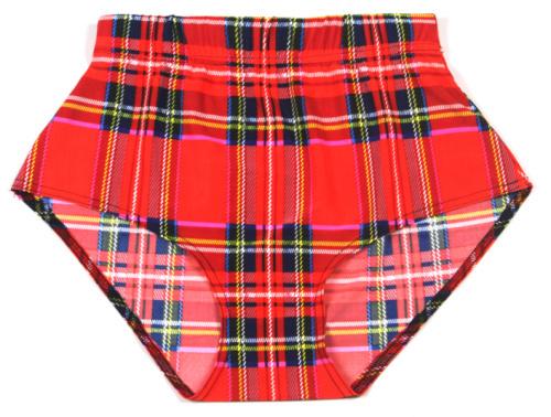 EAST KNITTING X 082 Fashion font b Tartan b font Red print shorts High Waist sexy