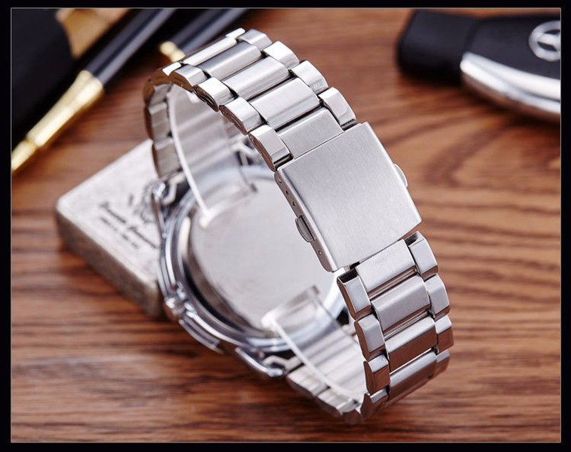 BOUNABAY WATCH Men Three dials Waterproof Quartz Wristwatch Ladies Fashion Datajust Analog Watch Luxury Automatic Business Clock