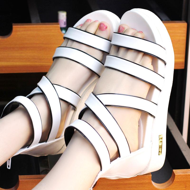 2014 sandals punk open toe platform elevator shoes female wedges - Guanlongkeji store