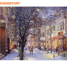 Buy CHENISTORY Snow Scene Pictures Painting By Numbers Wall Art Of Landscape DIY Canvas Oil Painting Home Decor For Living Room for $8.45 in AliExpress store