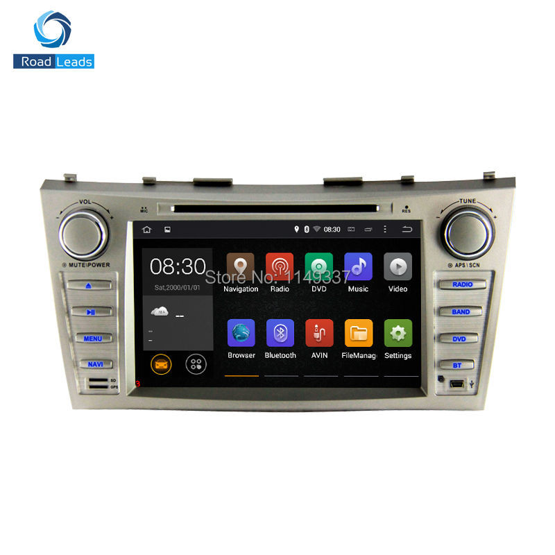 car dvd gps for toyota camry 2007 2008 2009 2010 2011 pure android 4 4 capacitive quad core 1 6. Black Bedroom Furniture Sets. Home Design Ideas