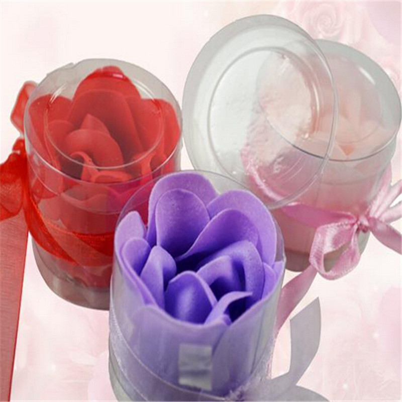 New 0 Cool 3pcs/Set Scented Flower Bath Body Soaps Soap Rose Petal For Bathing