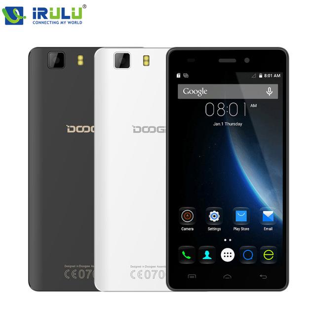 """Doogee X5 MTK6580 Quad Core Android 5.1 Смартфон 5.0 """"HD 1280*720 3 Г Dual Sim двойной Резервный 1 Г RAM 8 Г ROM Мобильный Телефон"""
