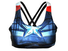 Women Quick Dry Sports Bra Top Vest Running Wireless Underwear Superhero Superman/Spiderman/Captain America Tank Tops(China (Mainland))