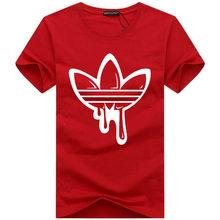 2018 nouveau été coton t-shirts drôles manches courtes T-shirt hommes mode marée marque imprimé rouge T-shirt hommes hauts t-shirts hommes(China)