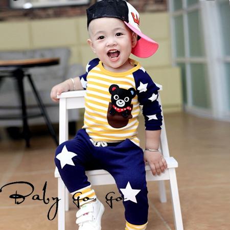 2015 Spring Fall Baby Clothing Sets Toddler Boys Girls Kids Brand Sport Suits Tracksuits Cotton Long Sleeve Shirt + Pants 2pcs(China (Mainland))