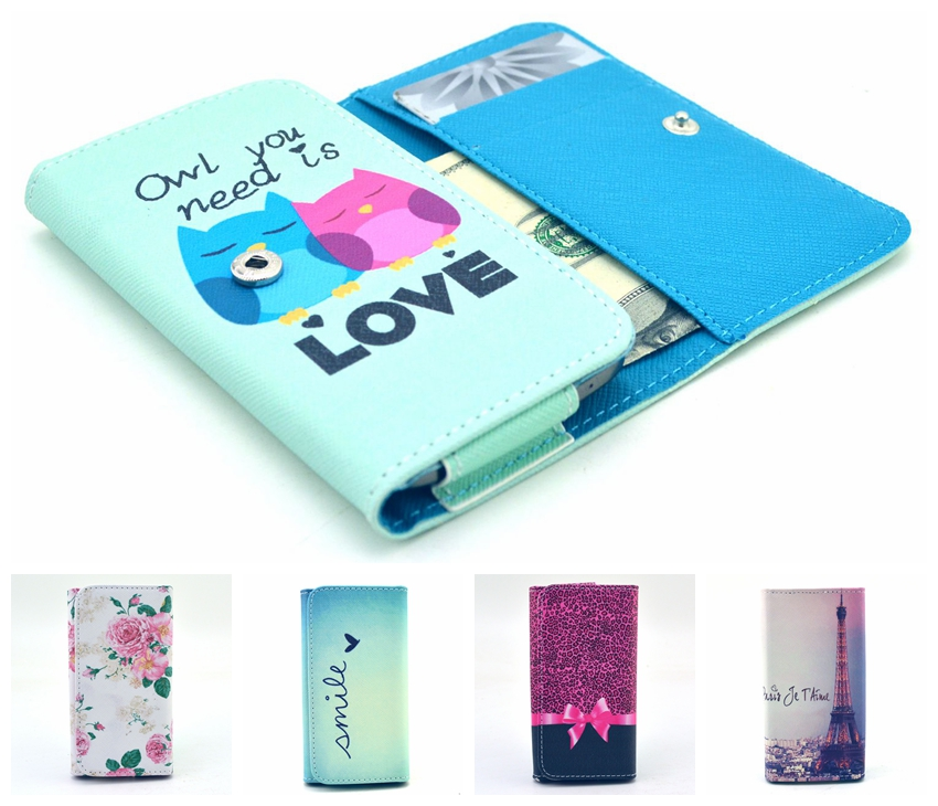 Fashion man/woman Art Painting Flip Wallet PU Leather Universal hand purse Bag Case Cover With Card/Money Slot For Multi Phone(China (Mainland))