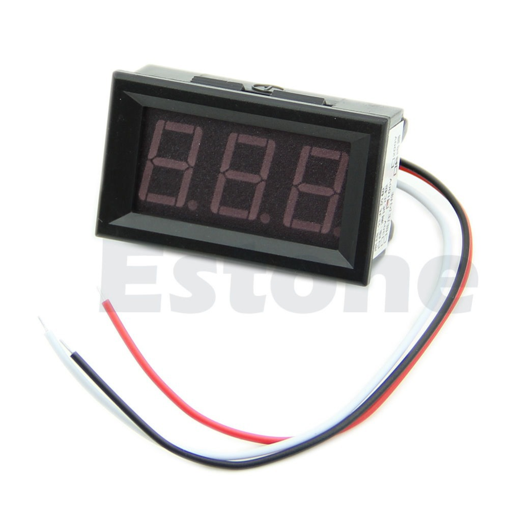 A96 Free Shipping 1Pc New Red LED Panel Meter Mini Digital Voltmeter DC 0V To 99