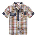 2016 New Fashion boy shirt 100 cotton shirt child clothes personalized plaid casual