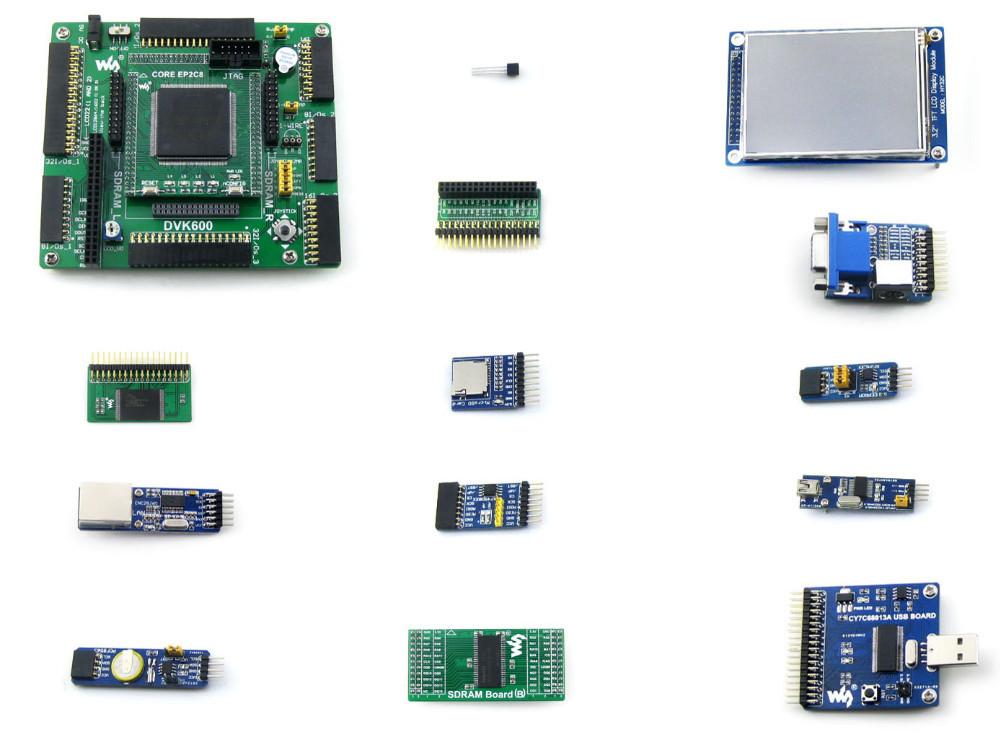 Altera Cycone Board EP2C8Q208C8N ALTERA Cyclone II FPGA Development Board+3.2inch LCD+12 Modules= OpenEP2C8-C Package A(China (Mainland))