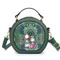 YQYDER Forest Circular Bags Crossbody Bags For Women Bag Sac A Main Femme 2017 Designer Handbag
