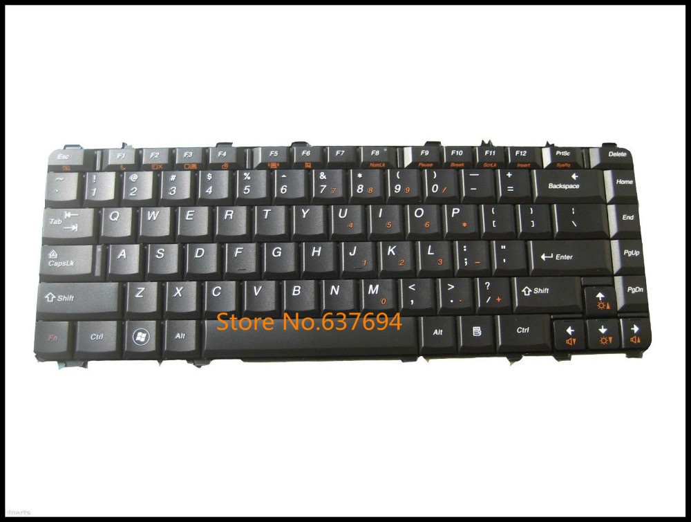 Free shipping!! New Keyboard For IBM Lenovo IdeaPad Y550A Y550 Y550P Laptop Black US Teclado(China (Mainland))