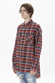 2016 top quality Fear Of God men red grid casual shirts hiphop Justin Bieber tartan plaid