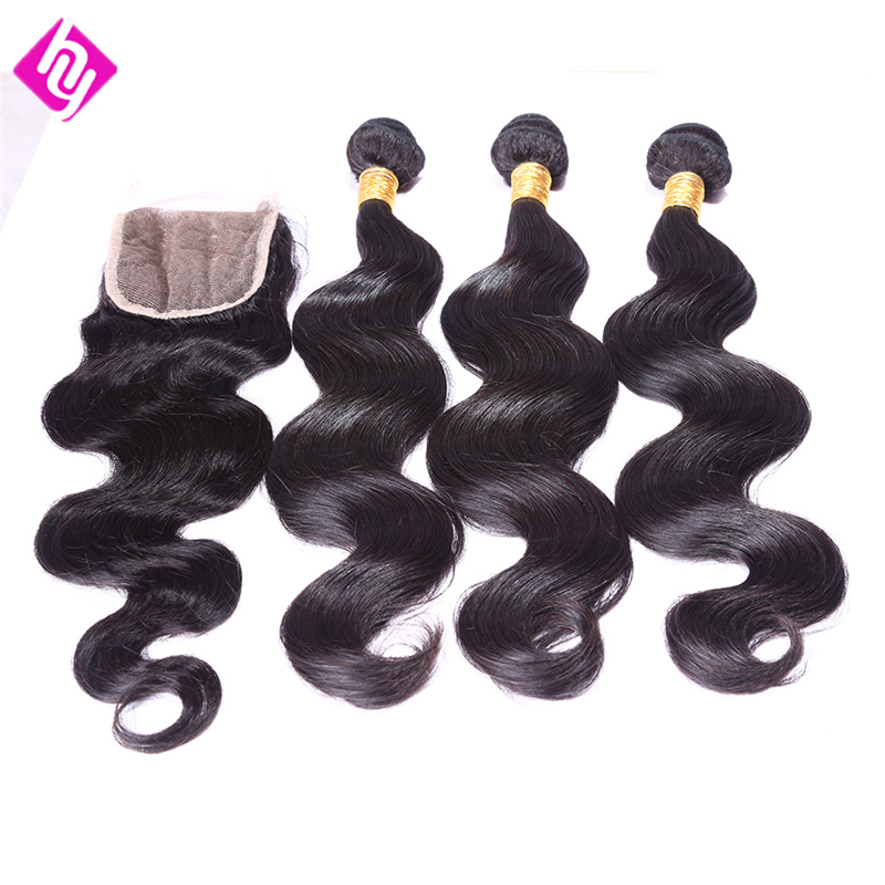Indian Body Wave Ms Lula Hair with Closure and Bundles 8-30 Raw Virgin Indian Hair 3 Bundles with Closure tissage bresilienne<br><br>Aliexpress