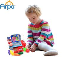 Arpa Pretend Play Toy Cashier Register Arpa with Real Calculator Toy(China (Mainland))