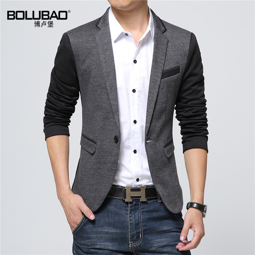 2016 New Fashion Casual Men Blazer Cotton Slim Korea Style ...