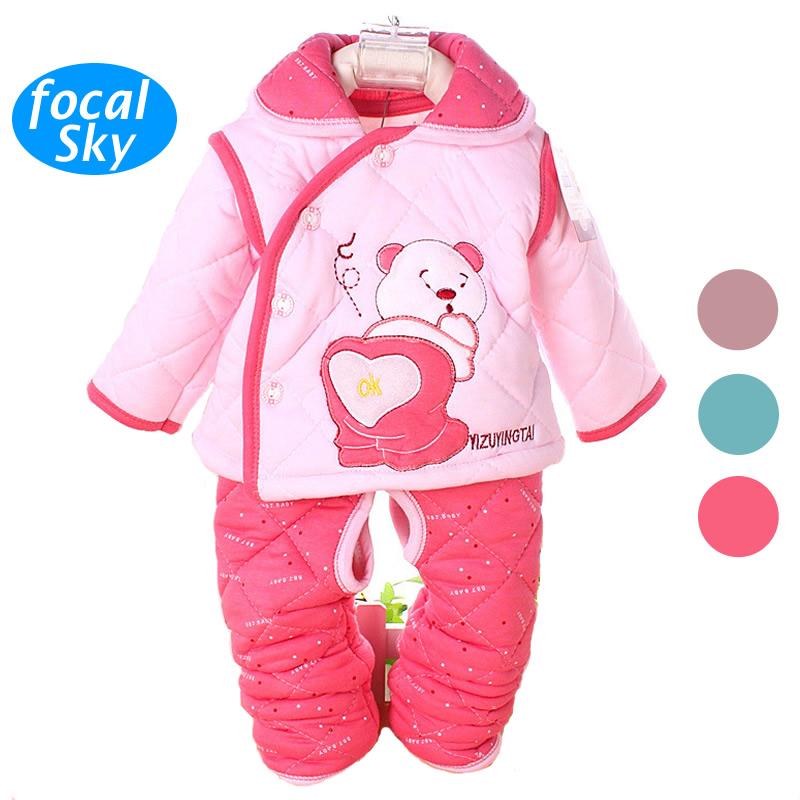 Hot Newborn Baby Clothes Winter Girl Set