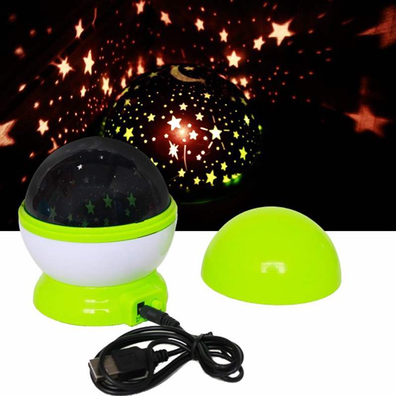 Magic Novelty LED Night Light Rotating Star Starry Projector Table Lamps For Children Gift Baby Kids Room Bedside Decor USB Plug(China (Mainland))