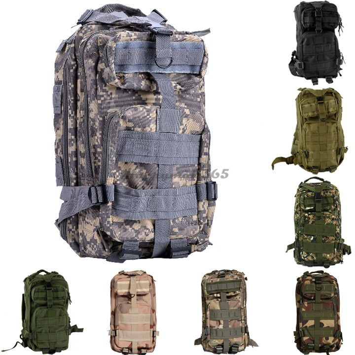 2015 Hot Sale Men Women Outdoor Military Army 3P Tactical Backpack Molle Camping Hiking Trekking Sport Camouflage Backpack US51(China (Mainland))