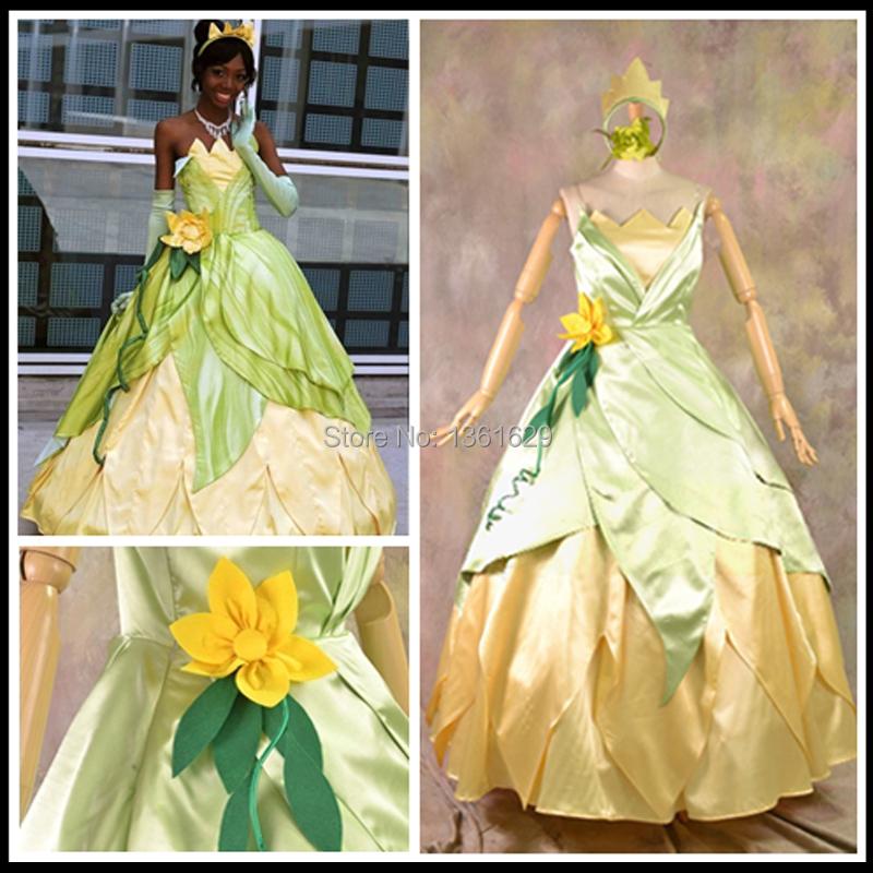 Princess Tiana Outfit: Best-Selling-Princess-Costume-Cosplay-Princess-Tiana-Adult