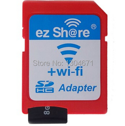 Free shipping ezshare EZ share micro sd adapter wifi wireless 16G 32G memory card TF MicroSD adapter WiFi SD card free ride(China (Mainland))