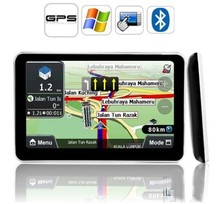 "Hot-sale 5"" Touch Screen HD 800x480 resolution Car GPS Navigation Sat Nav with Bluetooth + AV/IN +Free latest Maps(China (Mainland))"