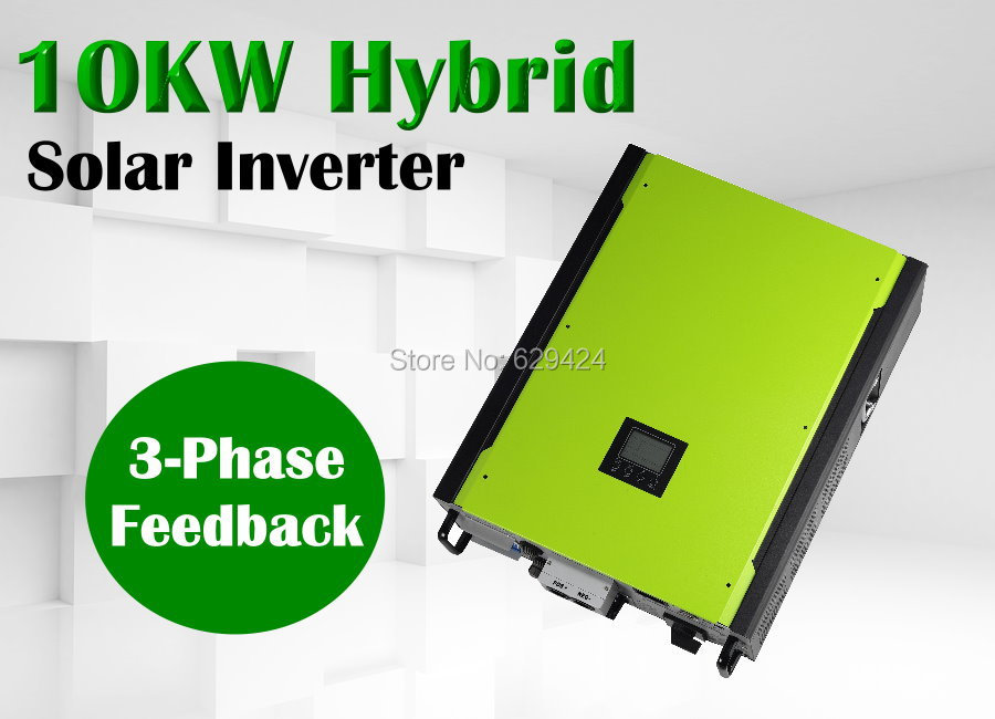 10kw 3 phase Hybrid solar inverter on grid off grid solar inverter with battery bank up max solar power 14850w(Taiwan)