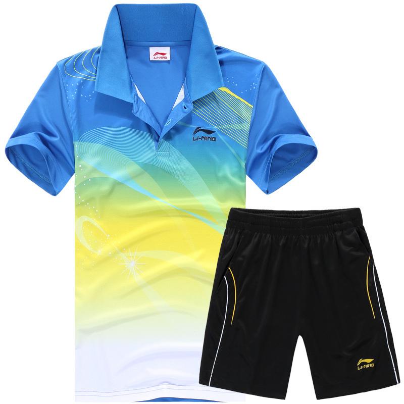Free shipping new fashion Li Ning short-sleeved shirt / Badminton Ping Pong T-shirt / Men's Shirts / Table Tennis clothes(China (Mainland))