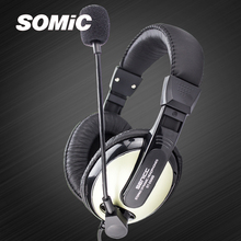 Somic New Fashion  ST-2688 Stereo Music Gaming Headset Headphone Earphone with Microphone 3.5mm plug for PC