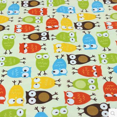 50cm*50cm (6pcs/Lot) Owl printed Fabric Patchwork textile 100% cotton telas cotton knit fabric Promotion(China (Mainland))