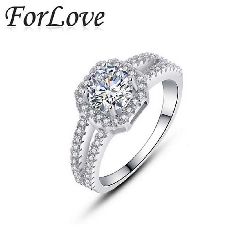 925 Sterling Silver Rings Sapphire Pink CZ Diamond for Women Wedding Engagement Wholesale Jewelry anel anillos O Forlove R1104(China (Mainland))