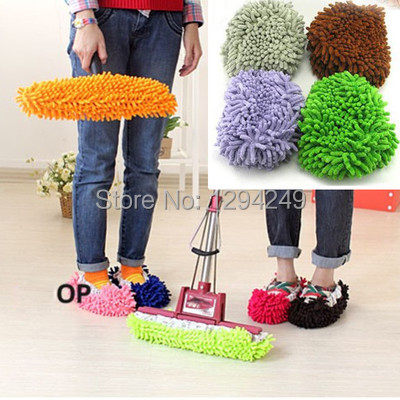 Free Shipping 10pcs x Multifunction Mop House Bathroom Floor Lazy Dust Cleaner Slipper Shoes Cover YgAL(China (Mainland))