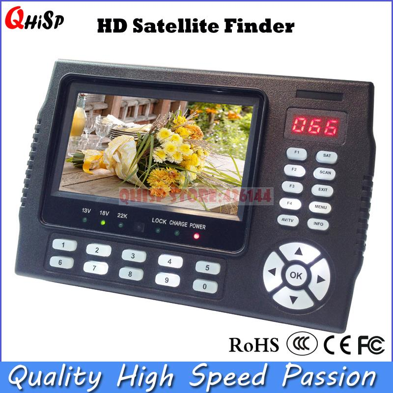 Satellite TV Receiver 4.3 Inch Portable Multifunctional HD Satellite Finder Monitor dvb s2(China (Mainland))